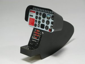 Scale Jet Ranger/Long Ranger Cockpit Kit for 60-90 Size