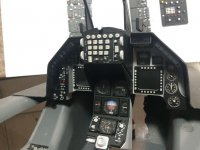 Scale Cockpit Panel Yellow Aircraft F-16