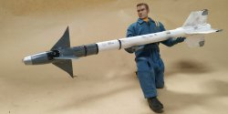 3D Printed 1/6 Scale Missile With Details and Weathering